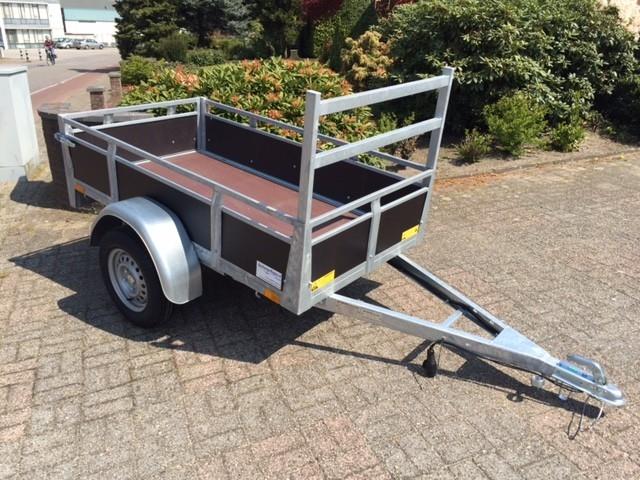 Bakwagen hout 200x110cm Enkelas nu met 8jr garantie op chassis !