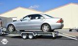 Kantelbare Stema autotransporter, ideaal voor lage auto's. _