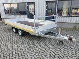 h. Plateauwagen 400x200cm - 2700kg - 63cm- dubbelas _