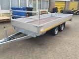 g. Plateauwagen 400x180cm - 3500kg - 63cm- dubbelas _