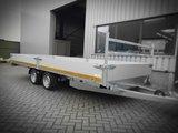 l. Plateauwagen 500x200cm - 3500kg - 63cm- dubbelas - _