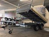 Elektrische kipper - 310x160cm - 2700kg -laadvloer hoogte 63cm [oprijplaten]_