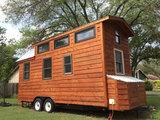 Tiny House dubbelas trailer met platform afmeting 720x244cm en 3500kg as._