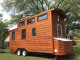 Tiny House dubbelas trailer met platform afmeting 840x244cm en 3500kg as._