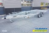 Tiny House plateau dubbelas trailer met platform afmeting 602x244cm en 3500kg as._
