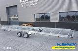 Tiny House plateau dubbelas trailer met platform afmeting 780x244cm en 3500kg as._