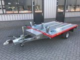 Systema 'de luxe Red' compleet Plateau 1300kg motortrailer met afmeting 251x183cm _