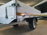 Plateauwagen ongeremd 250x145cm - enkelas - 30cm borden - laadvloer 63cm_