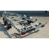 Boottrailer 745cm - 2000kg - geremd - dubbelas_