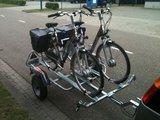 Fietsaanhangwagen met Spinder klem geschikt voor 2 elektrische fietsen_
