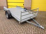 Twin enkelas koetsaanhangwagen 307x157cm met rijplaten _
