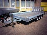 Hulco Machinetransporte 394x180cm 3500kg drieasser - klep 150cm_