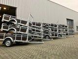 Enkelas ongeremde bakwagen 225x132cm - 750kg _