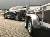 Dubbelas ongeremde bakwagen 257x157cm - 750kg _