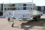 Plateauwagen 607x207cm - drieasser- 3500kg - 3x 1800kg_