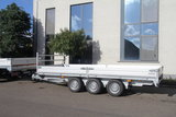 Plateauwagen 607x207cm - drieasser- 3500kg - 3x 1350kg - Bladveren_
