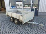 2e hands ongeremde dubbelas plateauwagen met nieuwe onderdelen. _