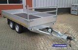 c. Plateauwagen 310x160cm - 2700kg - 63cm of 56cm- dubbelas _