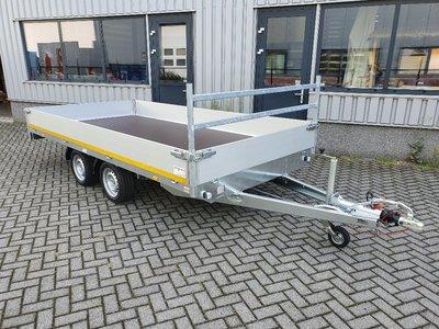 h. Plateauwagen 400x200cm - 2700kg - 63cm- dubbelas