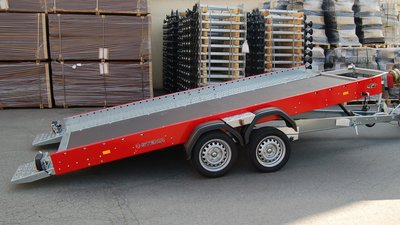 Kantelbare autotransporter 400x201cm 3500kg met dichte bodem