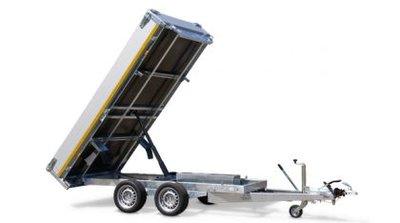 Handmatige kipper - 260x150cm - 2000kg - laadvloer hoogte 72cm