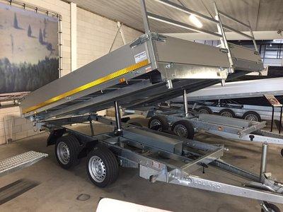 Elektrische kipper - 330x180cm - 2700kg - laadvloer hoogte 63cm [incl. rijplaten]