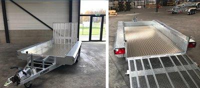 Aluminium traanplaat voer 400x150cm