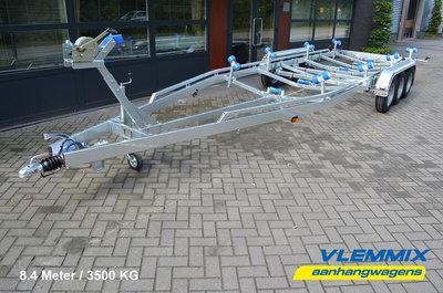 Type L - Boottrailer 780x221cm 3500kg - 3x 1350kg