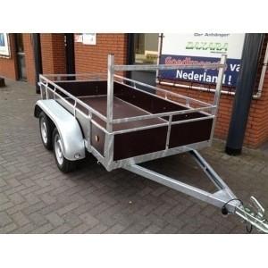 Dubbelas bakwagen hout 257x157cm nu met 8jr garantie op chassis !