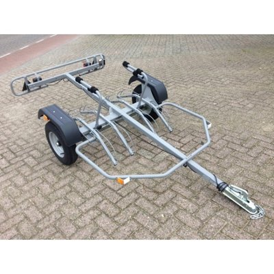 Fietsaanhangwagen geschikt tot 4 fietsen