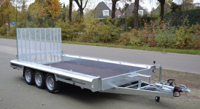 V. Vlemmix Machinetransporter 400x180cm 3500kg drieasser [3x 1350kg]