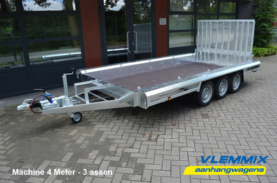 X. Vlemmix Machinetransporter 400x180cm 3500kg drieasser [3x 1800kg]