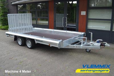 U. Vlemmix Machinetransporter 400x180cm 3500kg Dubbelas