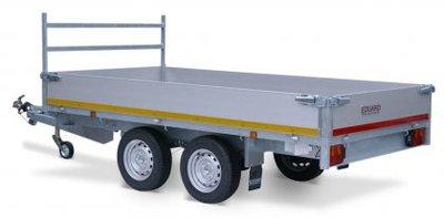 Eduard ongeremde Plateauwagen - 310x160cm - Dubbelas - laadvloer 63cm