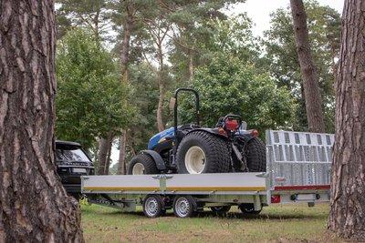 Eduard multitransporter - oprijklep - elektrisch kanbelbaar - 3500kg - 63cm