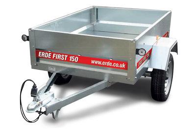 Erde First 150 - 650kg - 145x100x32cm - metalen aanhangwagen ongeremd -