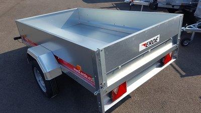 Erde First 230 - 750kg - 225x129x36cm - metalen aanhangwagen ongeremd -