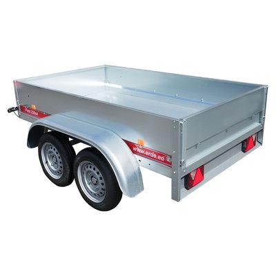 Erde First 234 - 750kg - 225x129x36cm - metalen aanhangwagen ongeremd - dubbel-as