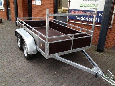 Dubbelas ongeremde bakwagen 257x132cm - 750kg