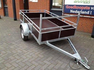 Enkelas ongeremde bakwagen 225x132cm - 750kg