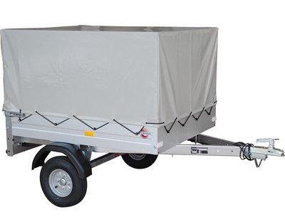 Enkelas ongeremde Huif bakwagen 134x108cm - 350kg