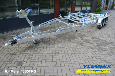 Type T - Boottrailer 840x255cm 3500kg - 3x 1800kg