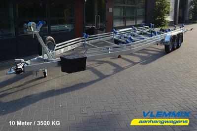 Type V - Boottrailer 1000x255cm 3500kg - 3x 1500kg