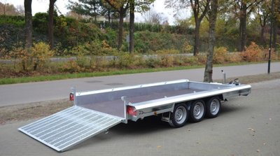 Machinetransporter 400x180cm - 3500kg - Type W - Drieasser