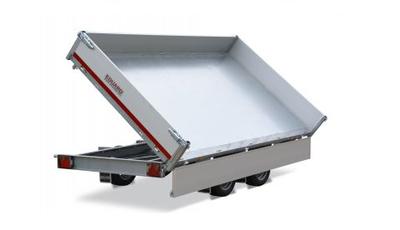 h. 3-zijdige elektrische kipper - laadvloer 63 - 330x180cm - types: 3000 of 3500kg