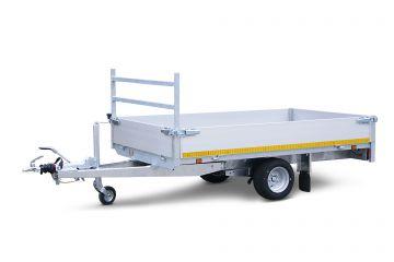 a. Plateauwagen 260x150cm - 1350kg - 63cm - enkelas