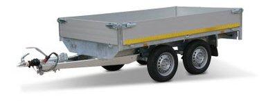 c. Plateauwagen 310x160cm - 2000kg - 72cm of 63cm- dubbelas