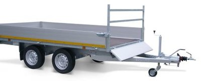 e. Plateauwagen 330x180cm - 2700kg - 63cm- dubbelas
