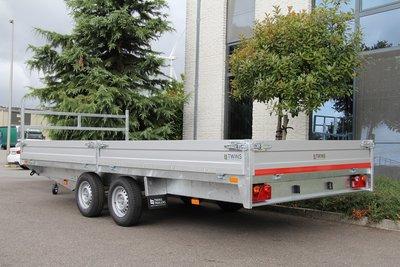 Plateauwagen 607x207cm - dubbelas - 2700kg