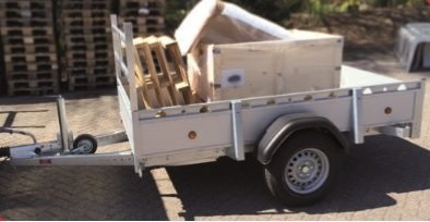 Henra geremde bakwagen 257x135cm - enkelas - 1350kg